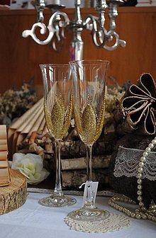 Nádoby - Svadobné poháre - 7710975_