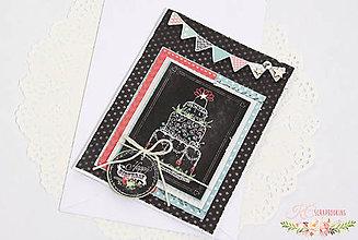 Papiernictvo - Scrapbooková pohľadnica XIV - 7713079_