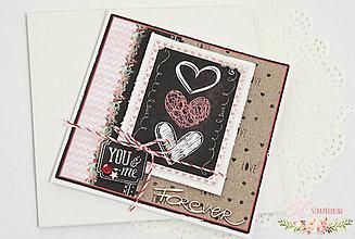 Papiernictvo - Scrapbooková pohľadnica XV - 7713124_