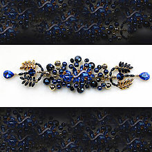 "Ozdoby do vlasov - spona ""Queen blue"", typ 156 - 7711376_"