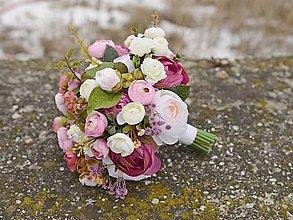 Kytice pre nevestu - svadobný set kytica+ pierko by michelle flowers-rezerve - 7711476_