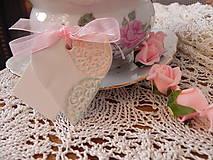 Darčeky pre svadobčanov - Svadobné magnetky s menovkami - púdrový dotyk mäty:-) - 7712894_