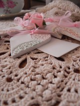 Darčeky pre svadobčanov - Svadobné magnetky s menovkami - púdrový dotyk mäty:-) - 7712897_
