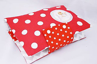 Detské doplnky - Organizér na plienky červený guličkový - 7713095_
