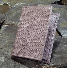 Peňaženky - Kožená pánská peněženka - Had - 7712382_