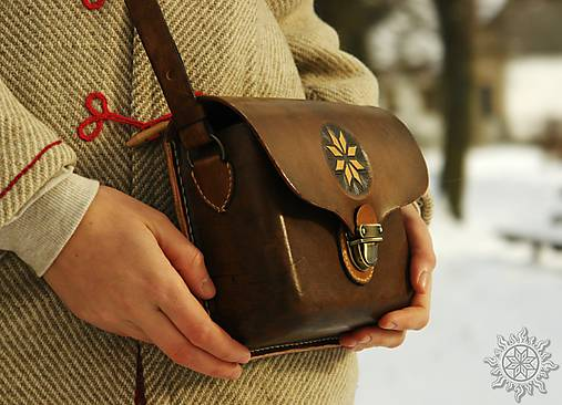 Kožená kabelka Mirina - Hviezda Alatyr