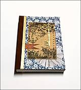 Papiernictvo - Ručne šitý denník/notes/zápisník/diár/náčrtník/skicár ,,The Secret