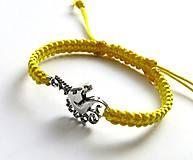 Náramky - Náramok jednorožec (žltý) - 7713260_