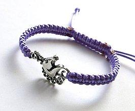 Náramky - Náramok jednorožec (fialový svetlý) - 7713396_