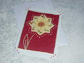 Papiernictvo - Pohľadnica - skladaný kvet - 7712274_