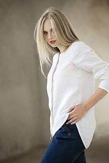 Košele - Lněná košile - 7709910_