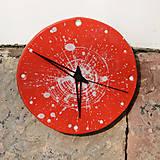Hodiny - Keramické hodiny Kruh střední - Muchomůrka - 7710096_