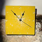 Hodiny - Keramické hodiny Čtverec střední - Sedmikrásky - 7710136_