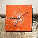 Hodiny - Keramické hodiny Čtverec střední - Letní láska - 7710176_