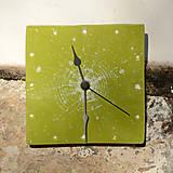 Hodiny - Keramické hodiny Čtverec střední - Sasanky v trávě - 7710189_