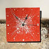 Hodiny - Keramické hodiny Čtverec střední - Muchomůrka - 7710212_