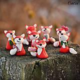 Darčeky pre svadobčanov - Líšky zdobené - darčeky pre svadobčanov,menovky - 7712705_