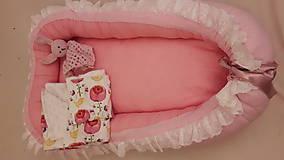 Textil - Hniezdo do postieľky Pink - 7712674_