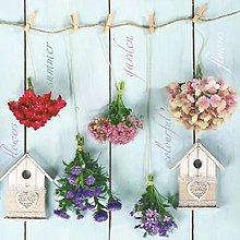 Papier - kvety a domčeky - 7713587_