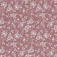 Papier - ruže v bordovom - 7713758_
