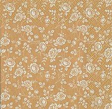 Papier - ruže v zlatom - 7713773_