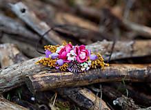 Ozdoby do vlasov - Kvetinová čelenka na gumičke