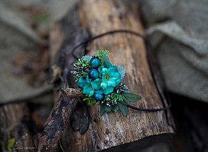 Ozdoby do vlasov - Kvetinová čelenka na gumičke \