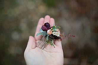Ozdoby do vlasov - Kvetinový mini hrebienok