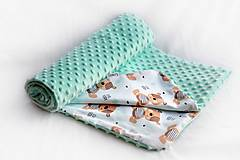 Minky deka celoročná 100x75cm Mint & Teddy