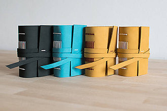 Papiernictvo - Ručne viazaný kožený zápisník Samko / čisté strany - 7711057_