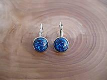 - modré náušnice s trblietkami - 7712132_