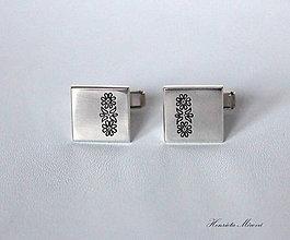 Iné šperky - Manžetové gombíky s folklórnym vzorom - 7712885_