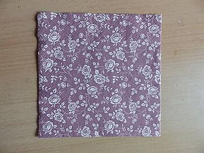 Papier - ružičky - 7711279_