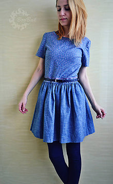 Šaty - Jednoduché džínsové šaty na každý deň - 7715186_