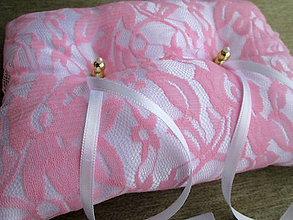 Úžitkový textil - Vankúš pod obrúčky - 7716791_