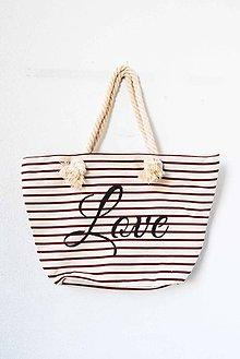 Veľké tašky - na plece... Láska... ľanová taška - 7718428_