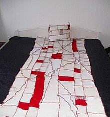 Úžitkový textil - lel valendový pleteninový prehoz+vankúš - 7716410_