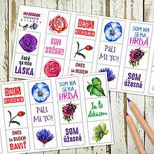 Papiernictvo - Samolepky motivačné - kvety - 7718126_