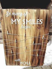 Rámiky - Tabuľka na fotky - so many smiles... - 7714811_