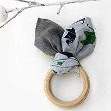 Hračky - Drevené hryzátko pre bábätko Origami Zoo - 7718465_