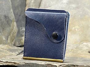 Peňaženky - Kožená dolarovka - Vykrojená modrá - 7718181_