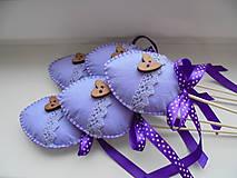 Dekorácie - Veľkonočné vajíčka - zápich, fialové - 7715584_