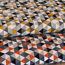 Textil - Trojuholníčky mix - 7717283_