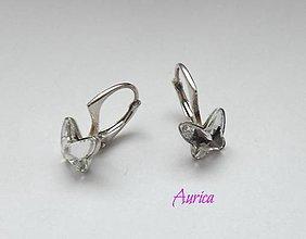 Náušnice - Strieborné náušnice s Swarovski crystals - 7717636_
