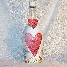 Nádoby - Fľaša k výročiu Pestovaná láska - 7714361_