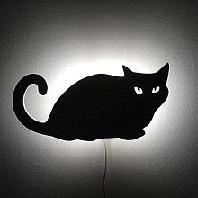 Svietidlá a sviečky - Lampa kocúrik - 7716356_