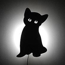 Svietidlá a sviečky - Lampa mačiatko - 7716451_