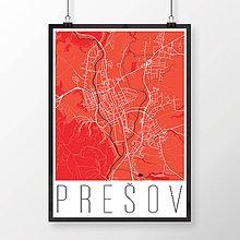 Grafika - PREŠOV, moderný, červený - 7715601_