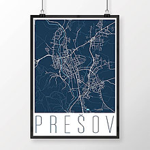 Grafika - PREŠOV, moderný, tmavomodrý - 7715617_
