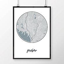 Grafika - PREŠOV, okrúhly, svetlomodrý - 7715683_